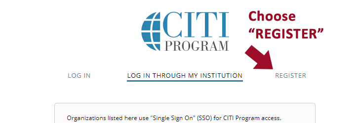 Register with CITI